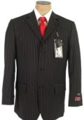 John Paul Black Pinstripe