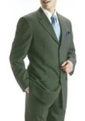 Olive Green Wool Suit