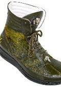 Olive Green Genuine Alligator