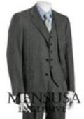 Mens 3 Piece Vested