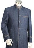 2pc Denim Suit Blue