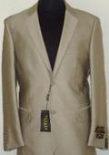 Shiny Beige Sharkskin Suit