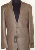 Shiny Cocoa Brown Sharkskin Suit