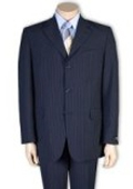 Blue small pinstripe suits