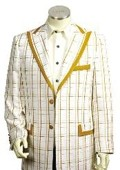 Men's 3 Buttons Suit Style Comes in White Gold Color