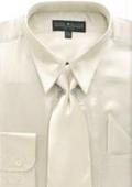 Men's Beige Shiny Shirt