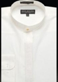 Embroidered Banded Collar Shirt