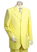 Men's Long Zoot Suit in Yellow