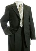 Mens Olive Designer Suit