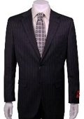 Suit Charcoal Stripe 2