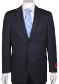 Suit Navy Blue Stripe
