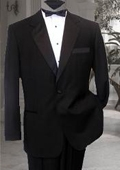 Solid black premier suits