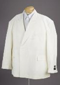 New Mens Double Breasted Cream Dress Suit