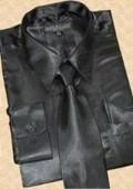 Black Dress Shirt Tie