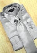 Silver Grey Dress Shirt