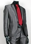 Charcoal Gray 2 Button Suit