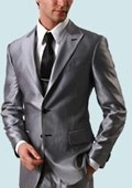 Silver Gray 2 Button Style Jacket