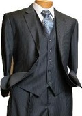 Light grey pinstripe suits