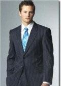 Mens Navy Blue Suit
