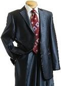 2 Button Shiny Dark Blue Suit