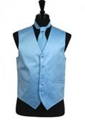 Light Blue Tuxedo Vest