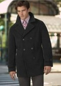 Black Wool Peacoat