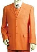 Mens Orange Pinstripe Gangester