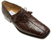 Brown Alligator Skin Shoes