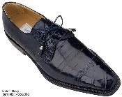 Navy Genuine Alligator/Eel Shoes
