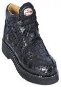 Leather crocodile shoe