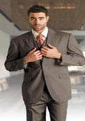 Mens Taupe Suit