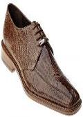 Brown Alligator skin shoes