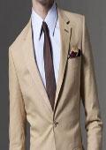 Taupe Linen Suit