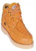 Tan Crocodile Shoe