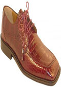 Burgundy Genuine Alligator Shoes