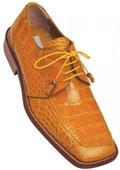Gold Color Alligator Shoes