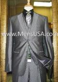 2 Button 3 Piece Silver Suit