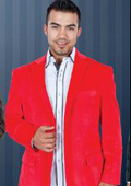 Mens Red Suit