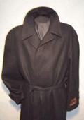 Men's Overcoat Long Wool Black