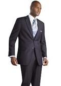 2 Button Shiny Navy Suit