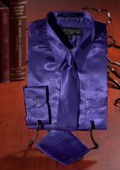 Purple Satin Dress Shirt