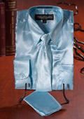 Light Blue Satin Dress