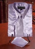 Lavender Satin Dress Shirt
