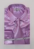 Mens Shiny Lavender Shirt