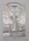 Mens Shiny Off White Shirt