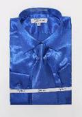Mens Shiny Royal Blue Shirt