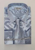 Mens Shiny Light Blue Shirt