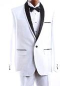 Mens White Tuxedo Suit