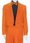 Tail Peak Lapel Orange