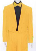 Tail Peak Lapel Yellow